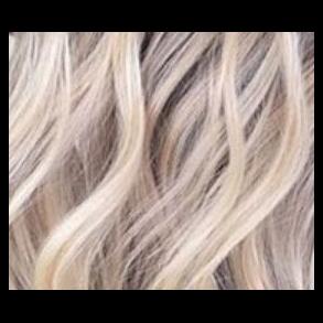 Blondt, lysnet og gråt hår